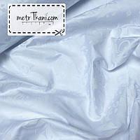 Сатин белый рисунок  вензель белый на белом ширина 220 см № ПС-130341