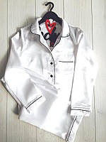 Белая пижама штаны и рубашка, одежда для дома.