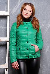 Жіноча демісезонна куртка зеленого кольору