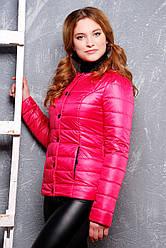Модна коротка жіноча куртка на весну на синтепоні