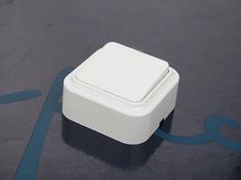 Выключатель одинарный АВАТАР Импульс наружный белый (ST-793)