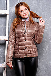 Красива жіноча курточка кавового кольору