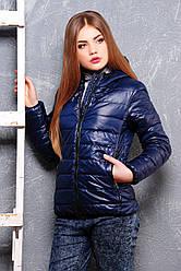 Жіноча коротенька куртка на блискавці