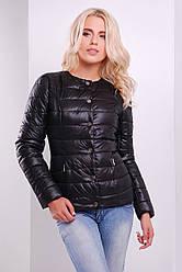 Жіноча демісезонна куртка чорного кольору