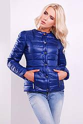 Жіноча куртка на синтепоні синього кольору