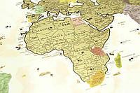 Скретч-карта мира Discover Map Gold (англ.) в тубусе