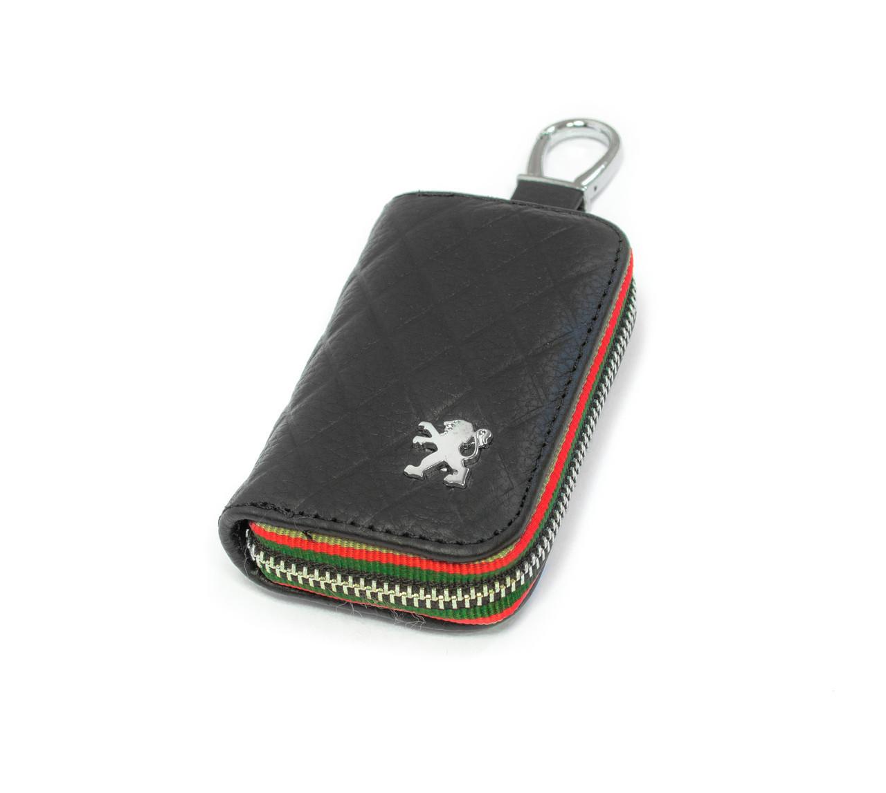 Ключница Carss с логотипом PEUGEOT 19009 черная