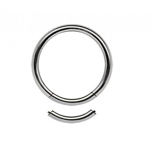 Кольца для пирсинга стальные с сегментом