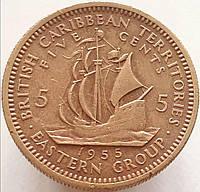 Восточные Карибы 5 центов 1955