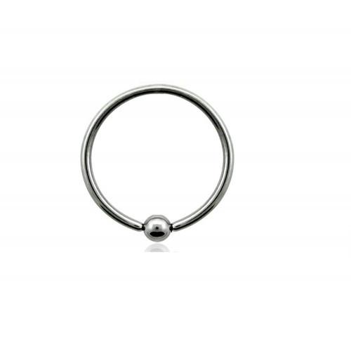 Пирсинг кольца с зажатым шириком титановые
