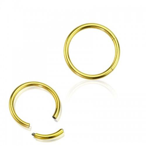 Кольца для пирсинга с сегментом титановые с покрытием