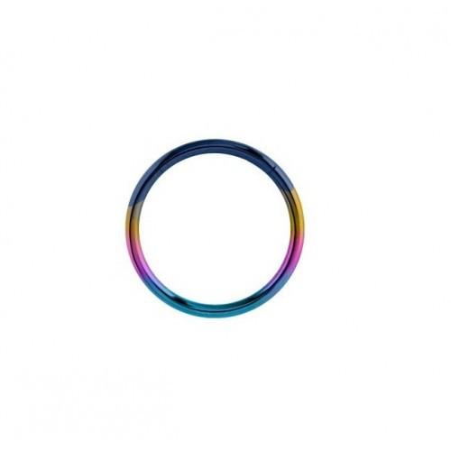 Кольца для пирсинга с сегментом титановые мультицветные