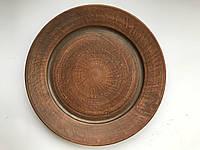 Керамические тарелки из глины d - 26 см.