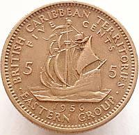 Восточные Карибы 5 центов 1956