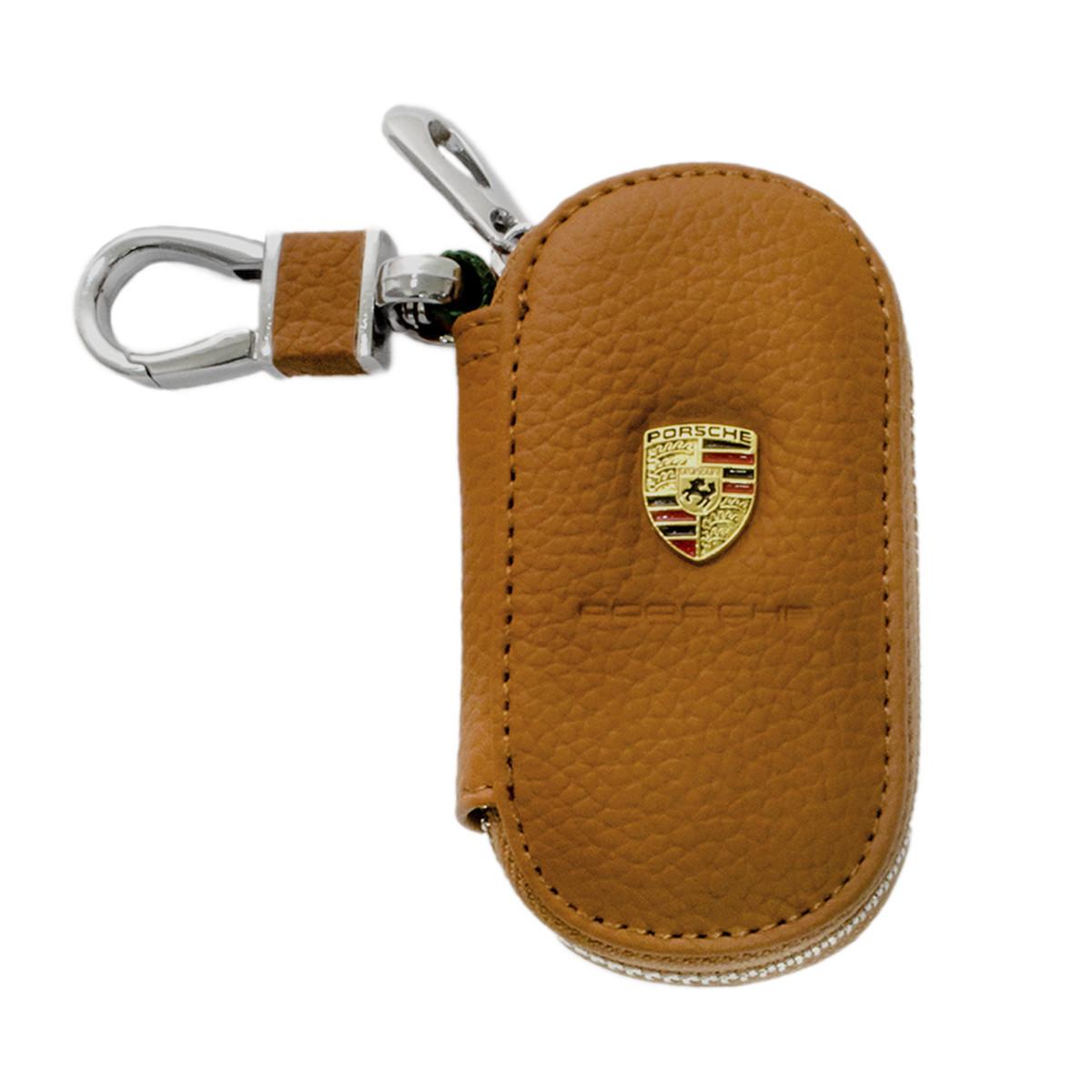 Ключница Carss с логотипом PORSCHE 06001 коричневая