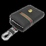 Ключниця Carss з логотипом PORSCHE 06012 багатофункціональна чорна, фото 4