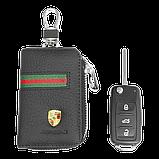 Ключниця Carss з логотипом PORSCHE 06012 багатофункціональна чорна, фото 5