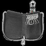 Ключниця Carss з логотипом PORSCHE 06012 багатофункціональна чорна, фото 6