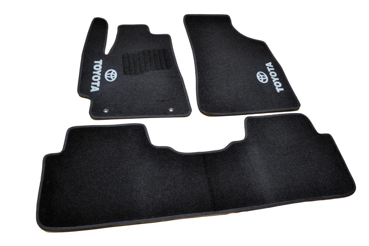 Купить Ковры салона салона Toyota Highlander 2008-2013 черные, 5шт ворсовые, AVTM