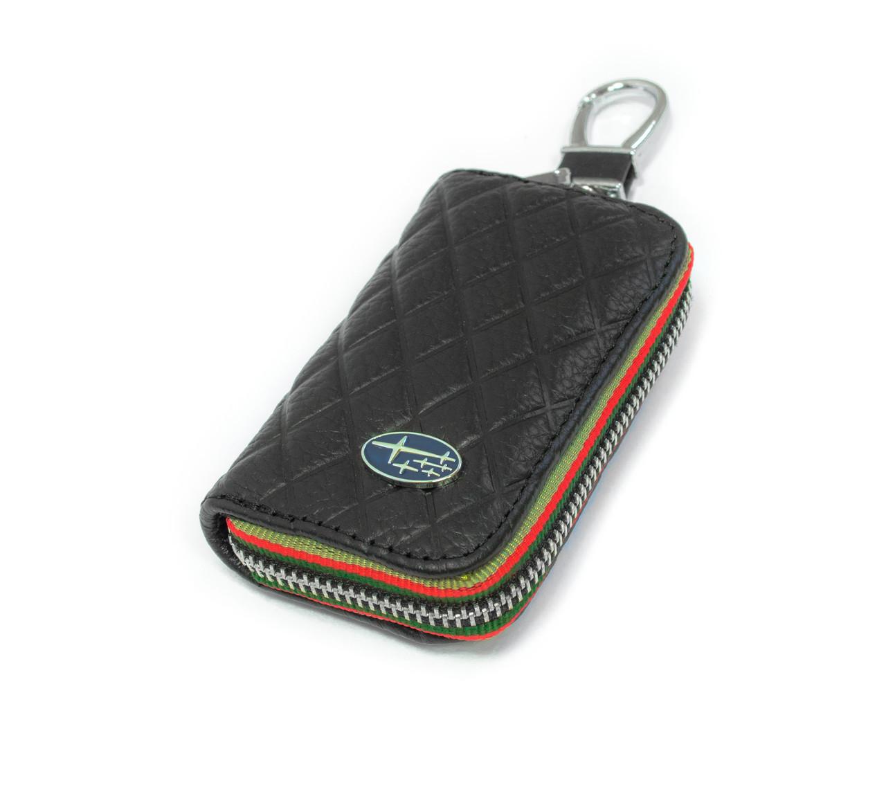 Ключниця Carss з логотипом SUBARU 21009 чорна