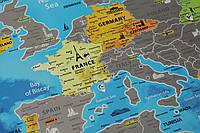 Скретч-карта Европы в тубусе с авоськой на английском