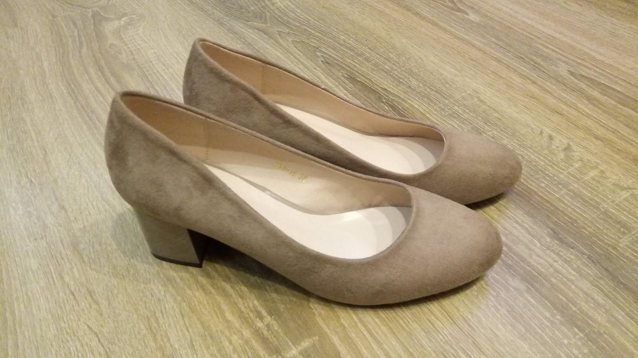 Женские туфли Loretta A11-30 беж замша, 37
