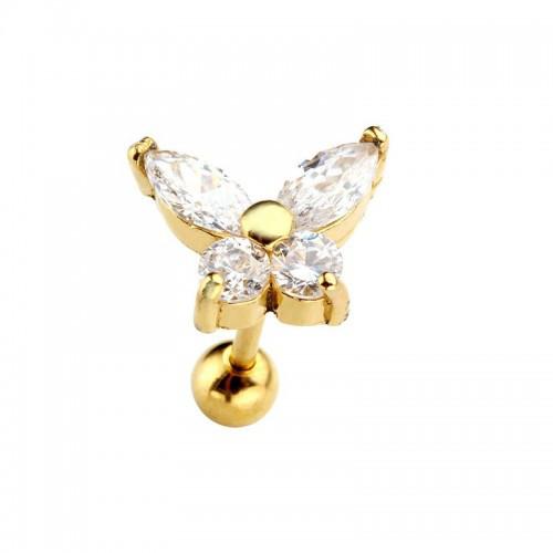 Сережка у хрящ з метеликом 141240