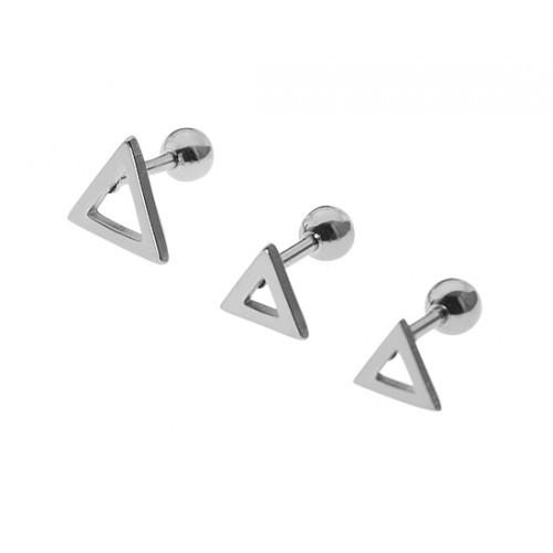 Набір сережок для хрящика / мочки трикутники 4 шт