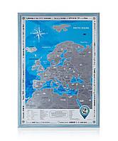 Скретч-карта Европы в рамке на английском