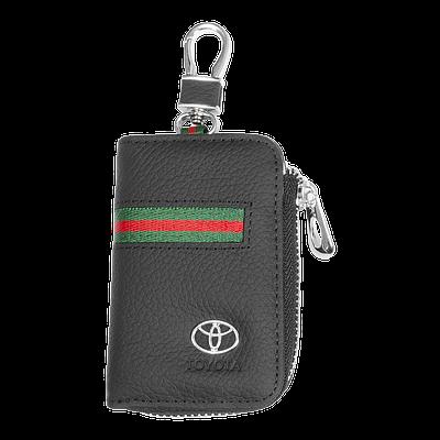 Ключница Carss с логотипом TOYOTA 07012 многофункциональная черная