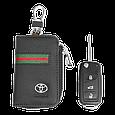 Ключница Carss с логотипом TOYOTA 07012 многофункциональная черная, фото 5