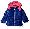 Демисезонная куртка Pink Platinum(США) синяя с розовым для девочки 12мес, 24мес