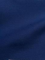 Льняная мебельная ткань, синего цвета (шир. 150 см)