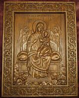 Икона резная  Богородицы Всецарица (Пантанасса), фото 1