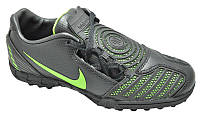 Бутсы Nike PU black-green 310-2 (69002)
