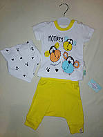 Костюм детский трикотажный для мальчика на 0-3 месяцев