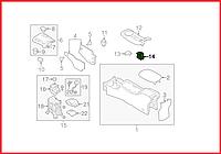Кнопка стояночного тормоза Nissan Leaf ZE0 (10-13) 25175-3NA0A