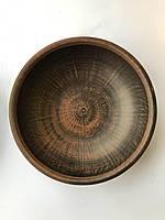 Керамическая тарелка/миска глубокая из глины 1 л.