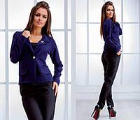 """Классический женский пиджак """"Шанель"""" с брошью (4 цвета)"""