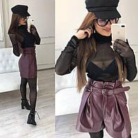 Женский  высокие шорты-юбка