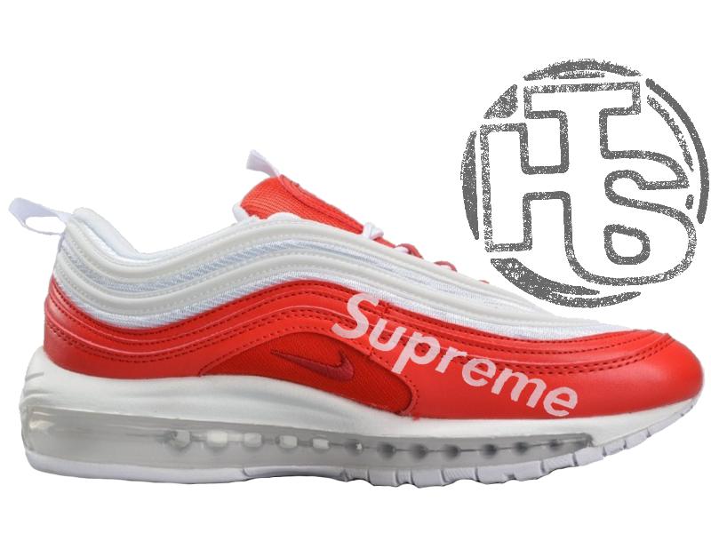 Мужские кроссовки Nike Air Max 97 x Supreme White/Red AJ1986-020
