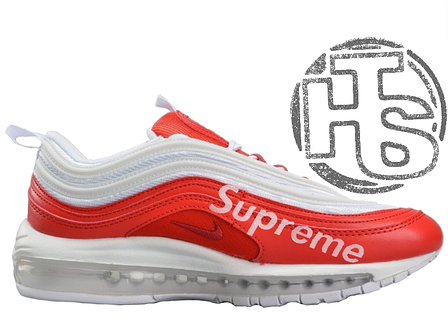 ??????? ????????? Nike Air Max 97 x Supreme WhiteRed AJ1986 020