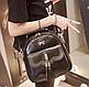 Женская сумка мини рюкзак Brush c бантиком, фото 4