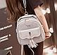 Женская сумка мини рюкзак Brush c бантиком, фото 6