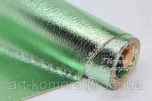 Эко-кожа глянцевая, нежно-зеленая, 20 х 25 см
