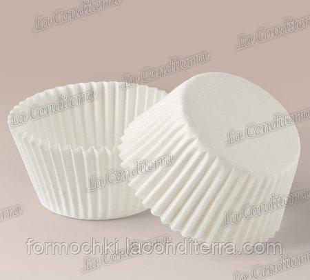 Бумажные формочки для конфет и кексов белые 4а (Ø35, бортик – 25 мм); 2000 шт.