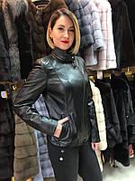 Куртка Женская Черная с Отстегивающимся Воротником 004МК