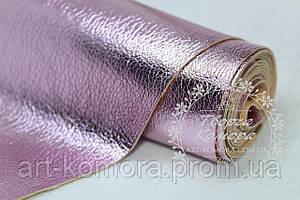 Эко-кожа глянцевая, розовая, 20 х 25 см