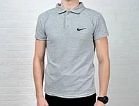 Мужское Поло Nike серого цвета