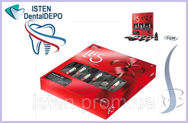 Лліс НАБІР    Llis Praktikal Kit -  універсальний наногібридний композит,5 шпр.х4 гр.бонд 4 мл.,Бразилія FGM.